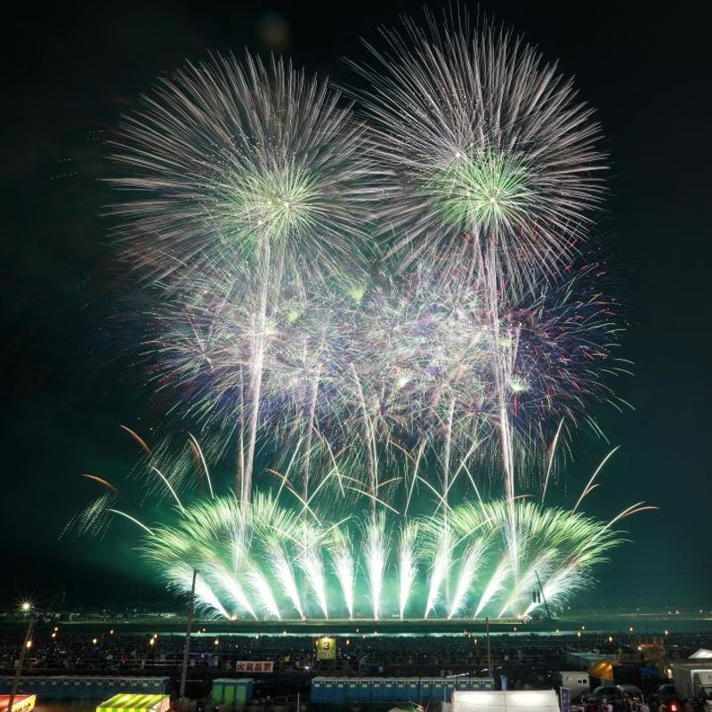 GALLERY: Fireworks competition held in northeastern Japan after heavy rain photo