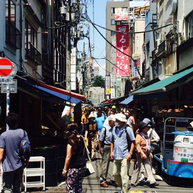 Lunch Adventure at Tsukiji Fish Market photo