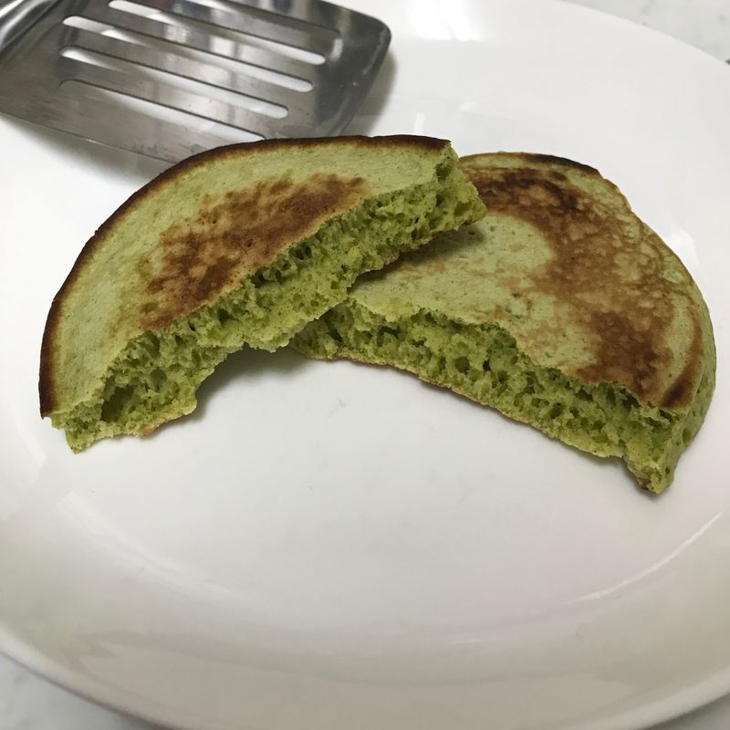 Making Shizuoka Green Tea Pancakes photo