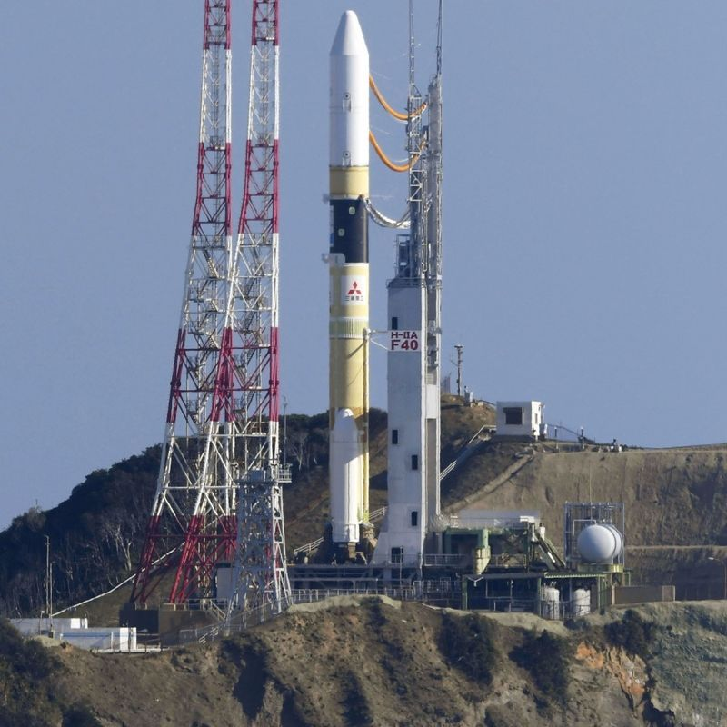 Japan launches rocket carrying greenhouse gas observation satellite photo