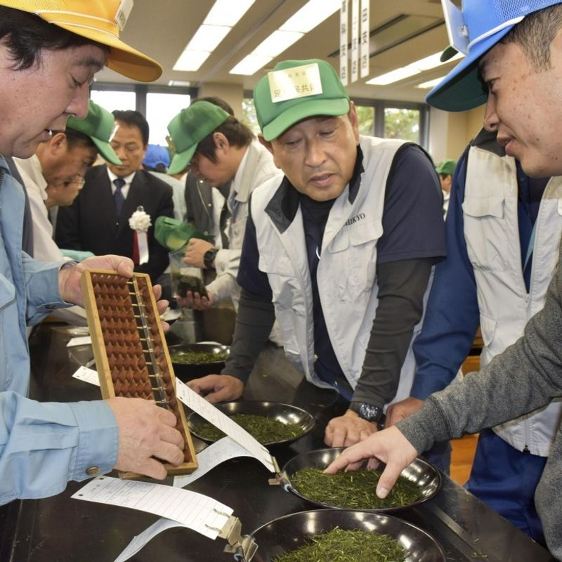 New Japanese tea leaves fetch record 1.09 mil. yen at auction photo