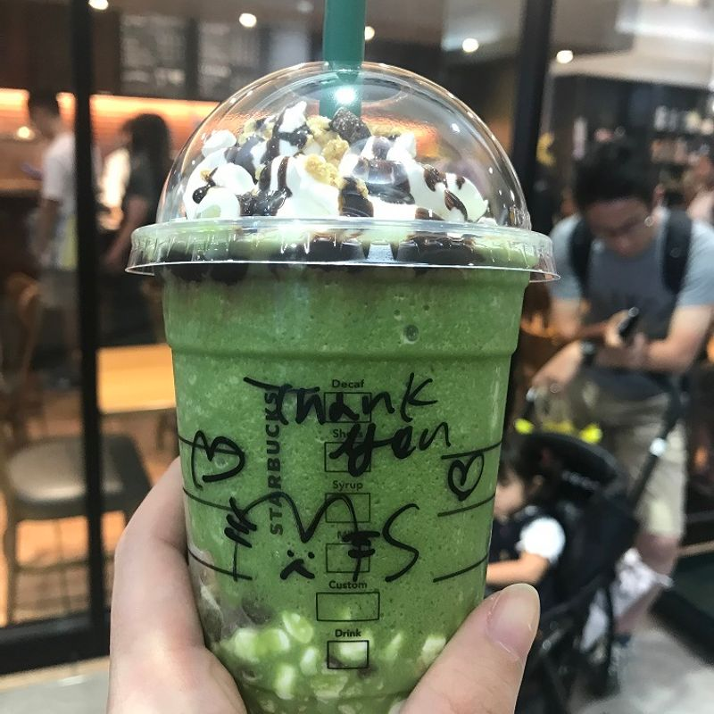 Starbucks Matcha S'mores Frappuccino... Not as Gross as it Sounds photo