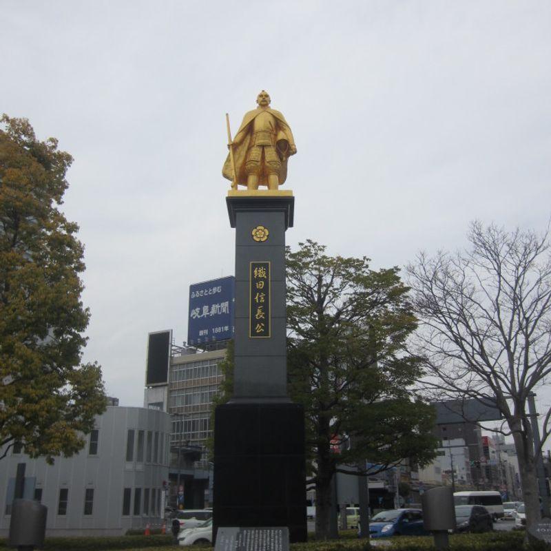 Gifu's Golden Oda Nobunaga Statue photo
