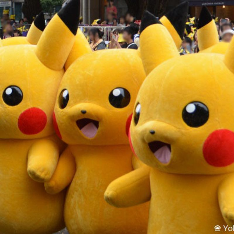 Fun in the Sun with many Pikachu