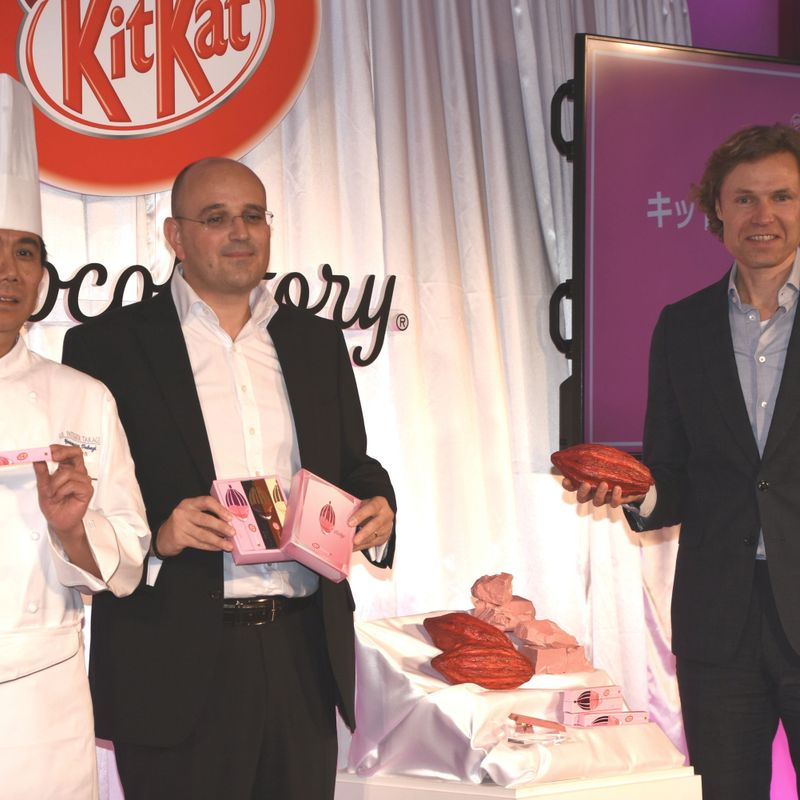 First look: Nestlé unveils pink Ruby chocolate KitKat, a world-first photo