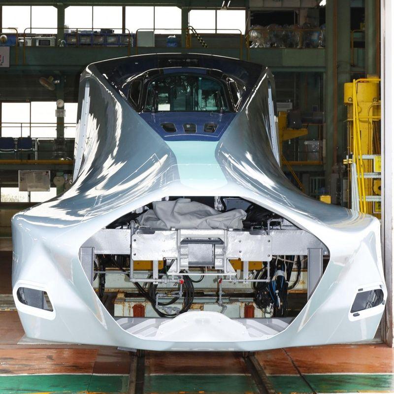 Japan's new shinkansen test car unveiled to media photo