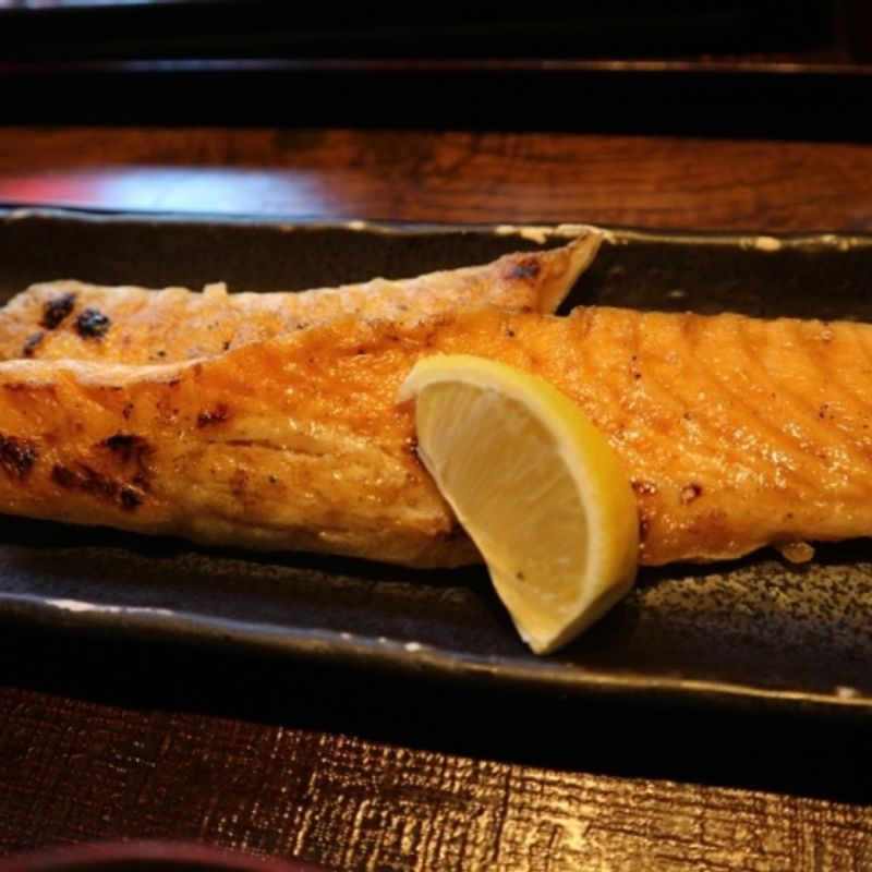 Old skool grilled salmon set and an old skool Japanese dining experience photo
