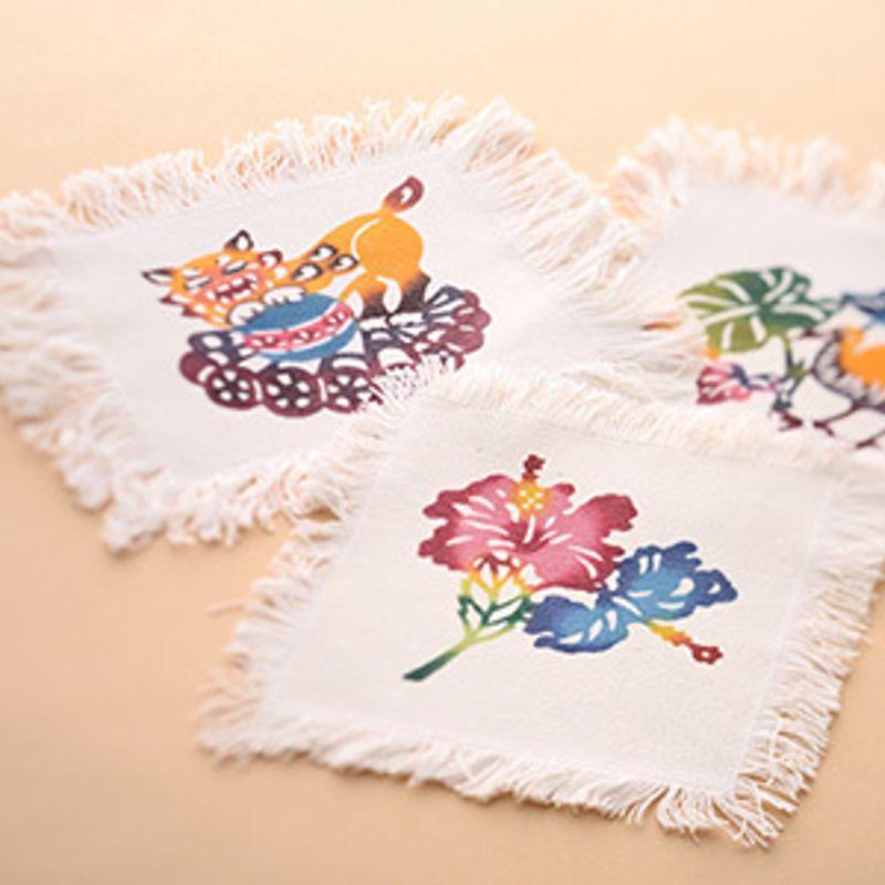 Bingata resist dyed fabric photo