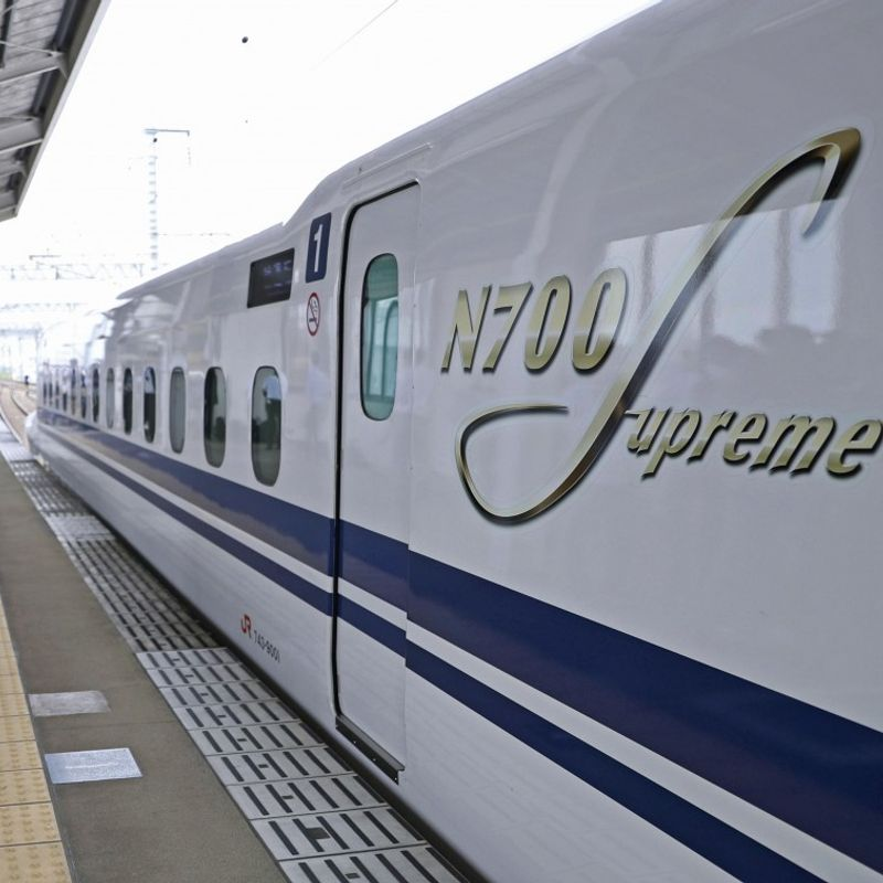 JR Central shows new N700S shinkansen bullet train model to media photo