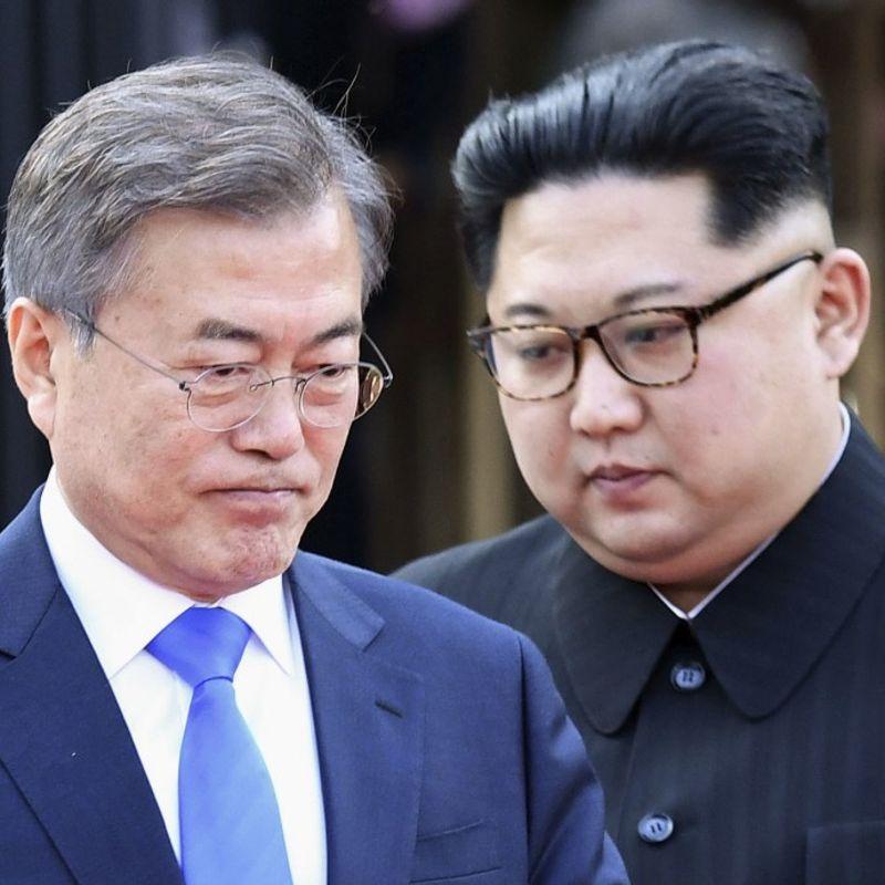 日本の安倍晋三首相は、南北首脳会談の成果を「肯定的」なものとし、 photo