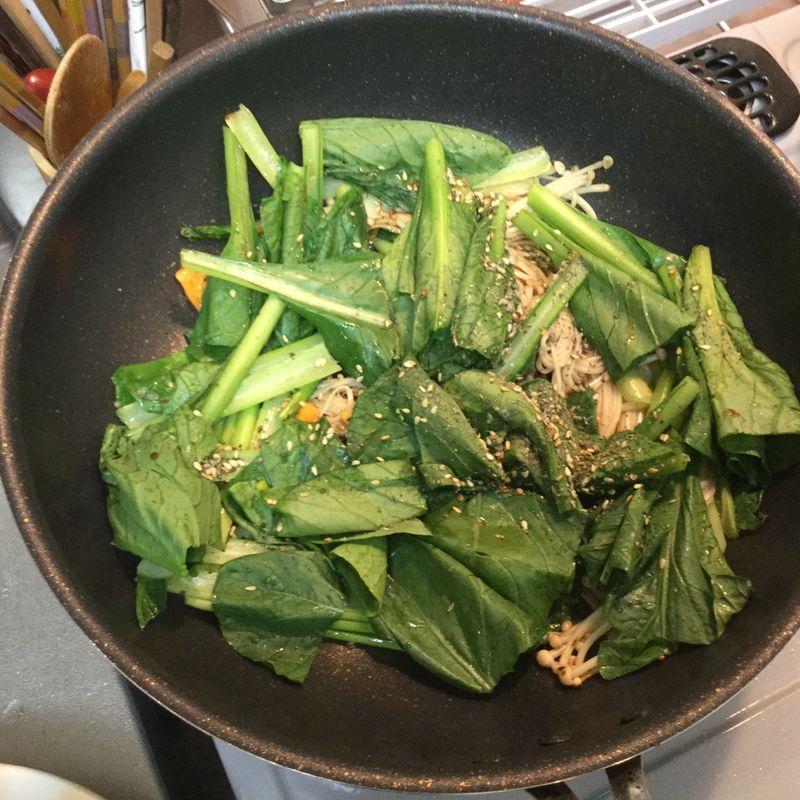 Zaatar with Japanese veg? It's good! photo