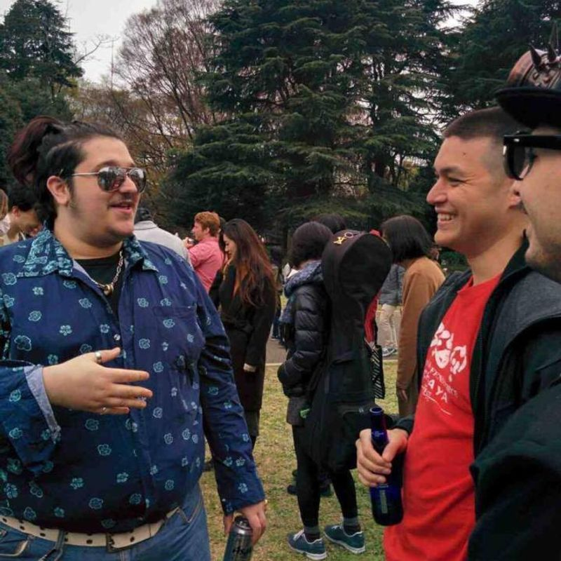 Hanami Experience: Partying it up with a bunch of YouTubers! photo