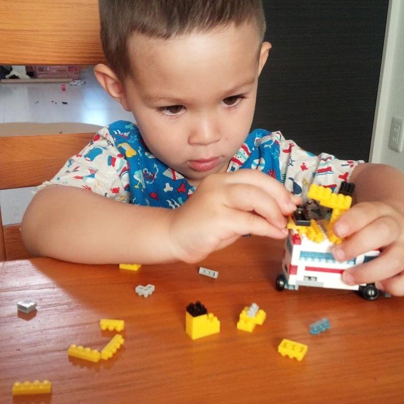 Nanoblock/tiny lego sets at Daiso photo