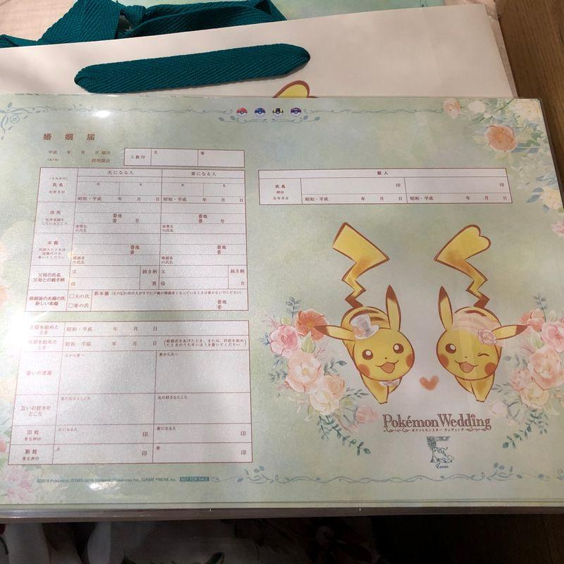 We went to the Pokemon bridal fair photo