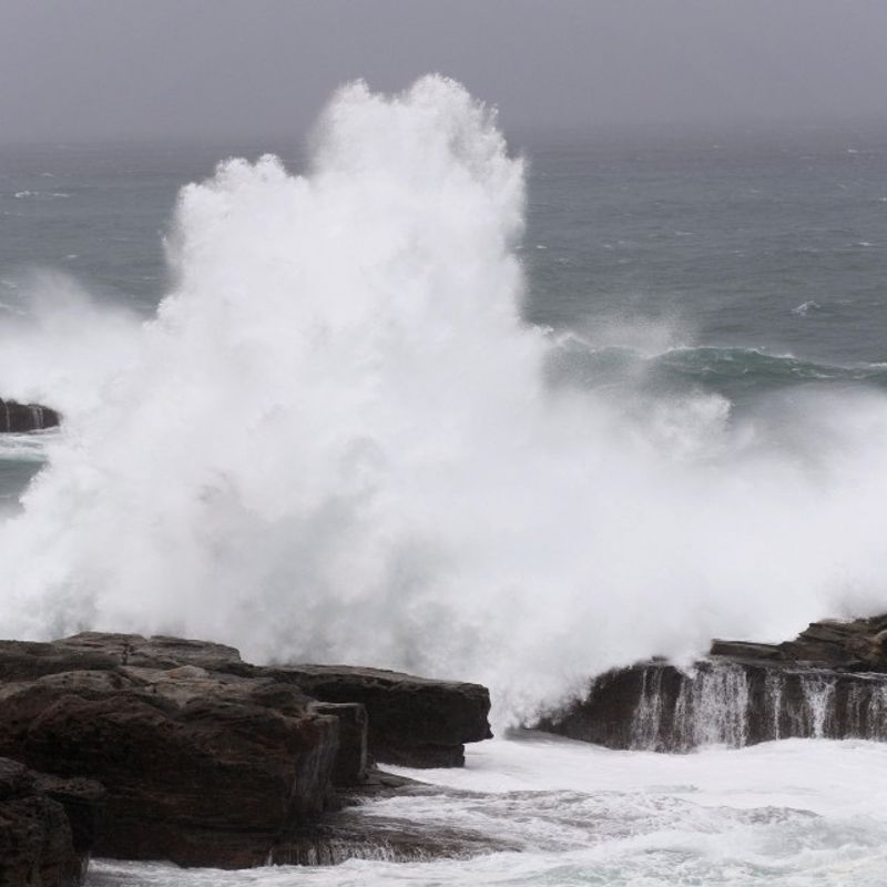 Typhoon approaching Japan's main island on election day photo