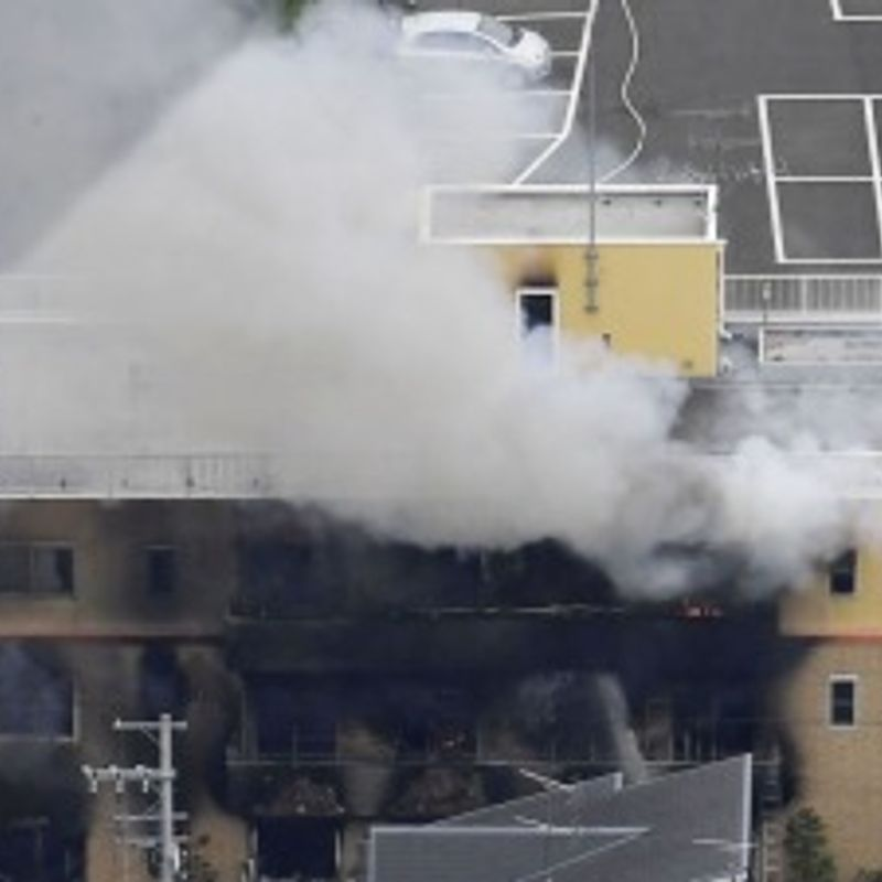 33 dead after man sets fire to Kyoto anime studio photo