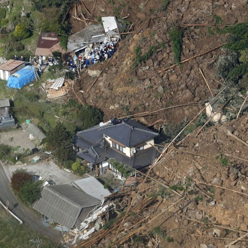 1 dead, 5 unaccounted for after landslide in southwestern Japan photo
