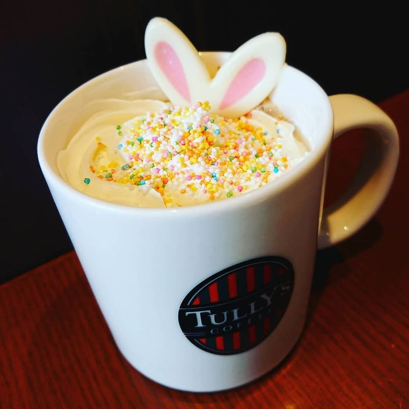 Tully's Easter Latte! photo