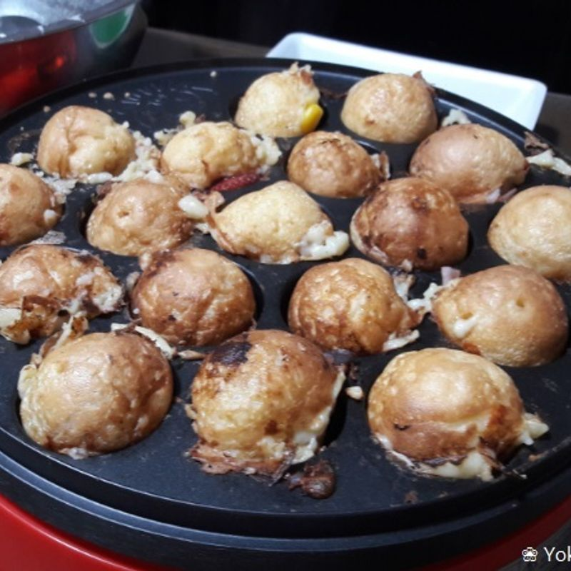 Takoyaki without Tako? Yes, that works! photo
