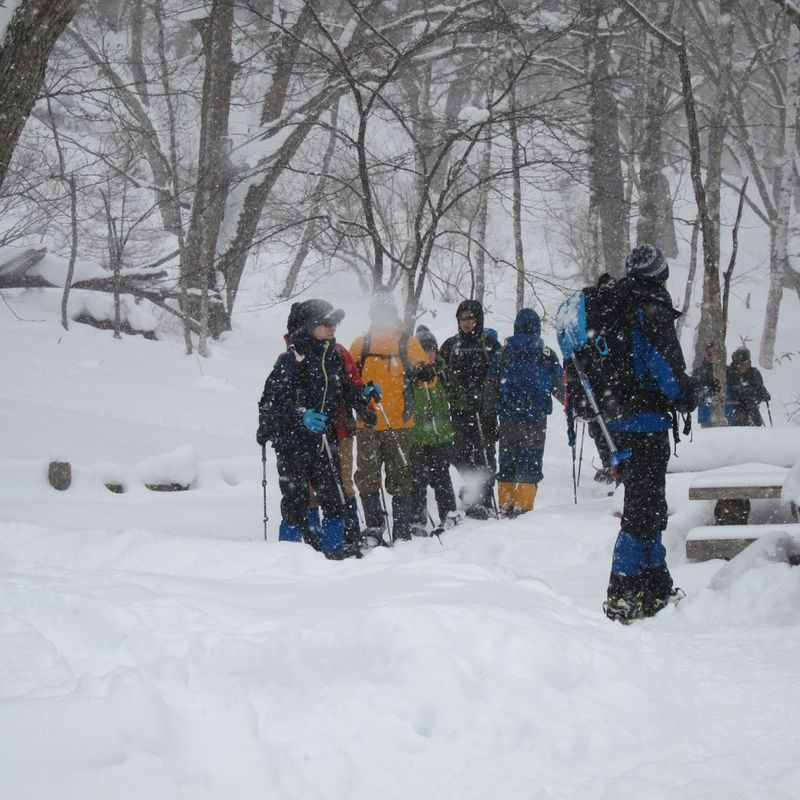 Winter outdoor sports in Japan photo