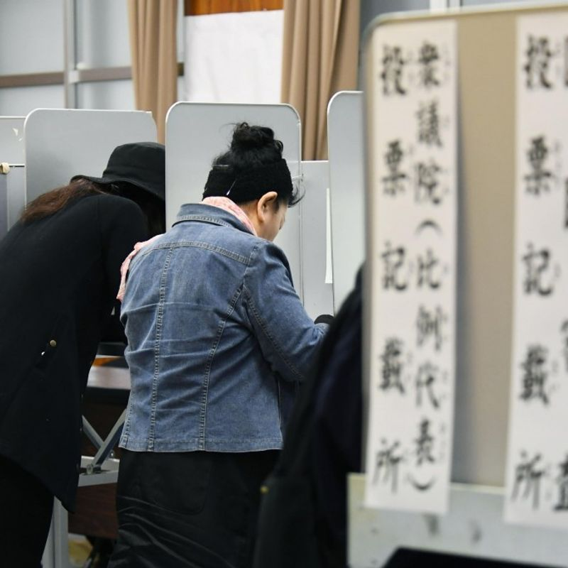 Voter turnout in Japan election at 54%, 2nd-lowest since WWII photo