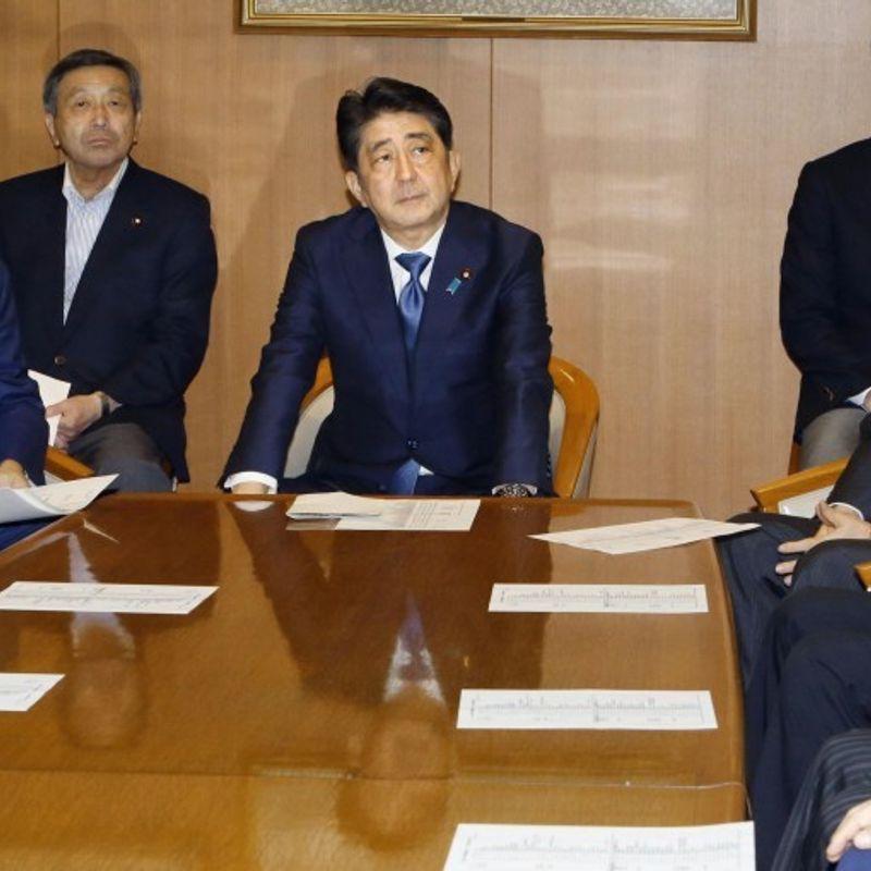 安倍首相は税収総選挙を呼びかける、北朝鮮政策 photo