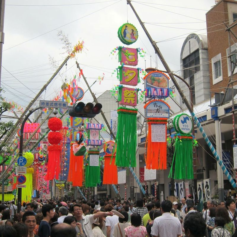 The great Tanabata festival in Hiratsuka photo