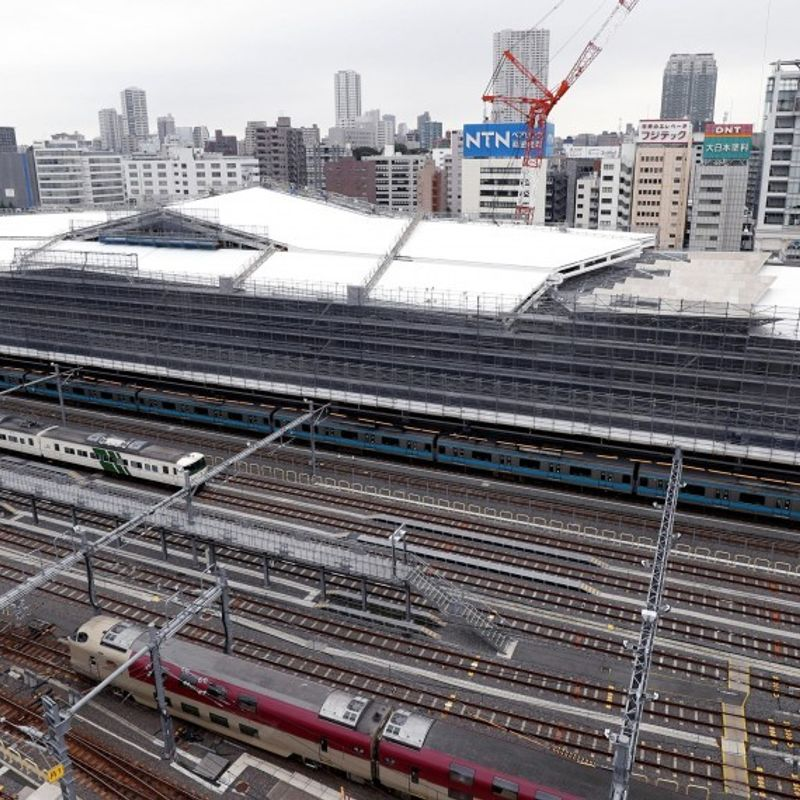 New station on Tokyo's Yamanote loop rail line unveiled to media photo