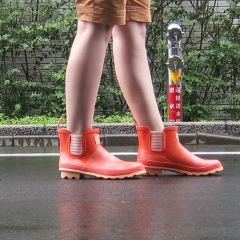 Fashionable rain boots for the rainy season photo