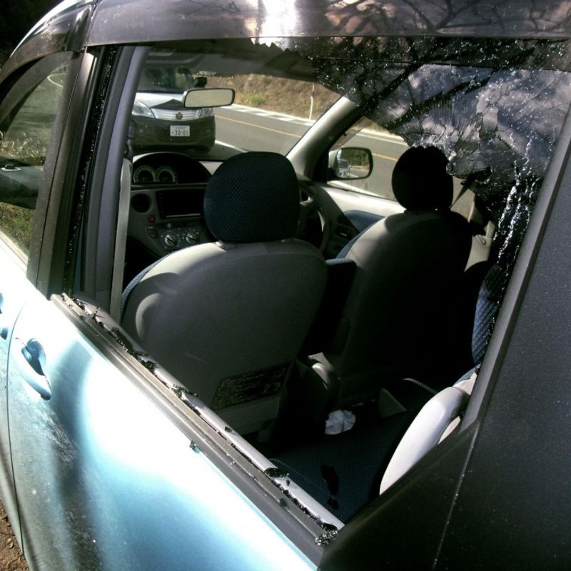 Civilian car driver safe as stray shell smashes window during drill photo
