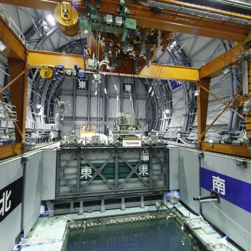 TEPCO begins fuel removal at Fukushima plant No. 3 unit pool photo