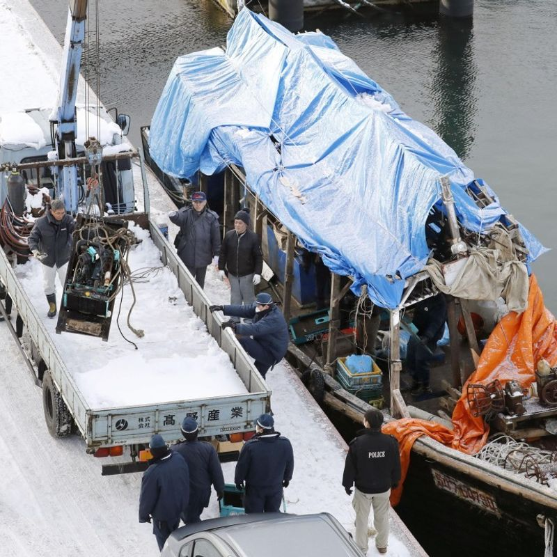 Japan deports N. Korean fishing crew involved in theft photo