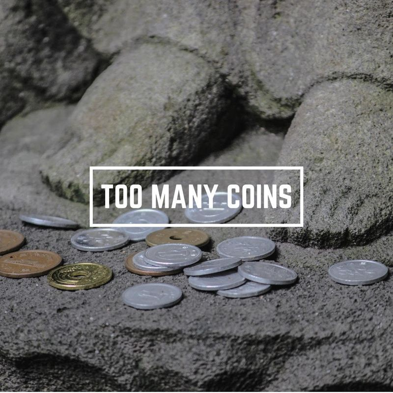 Too many coins photo