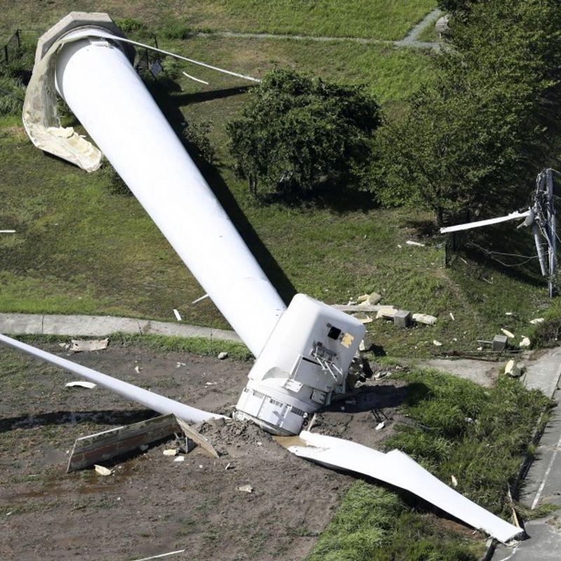 Typhoon leaves damage in western Japan, 13 injured photo