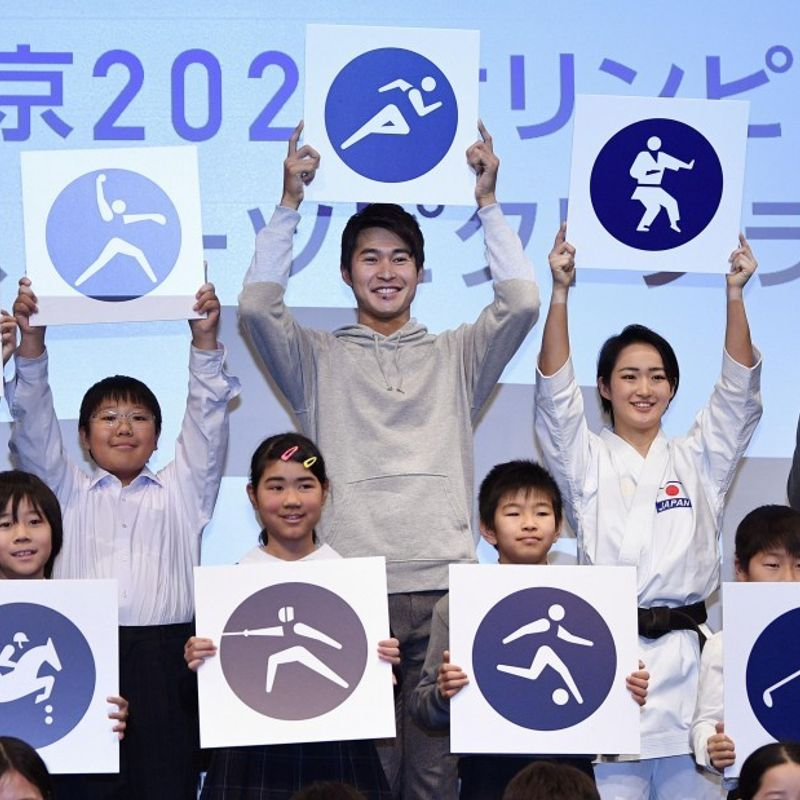 Tokyo Olympic pictograms unveiled, redesigned from those in 1964 Games photo