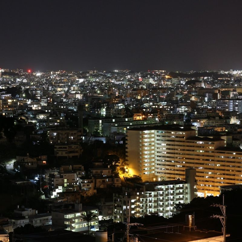 夜のシュリジョ、沖縄の那覇市の夜景 photo