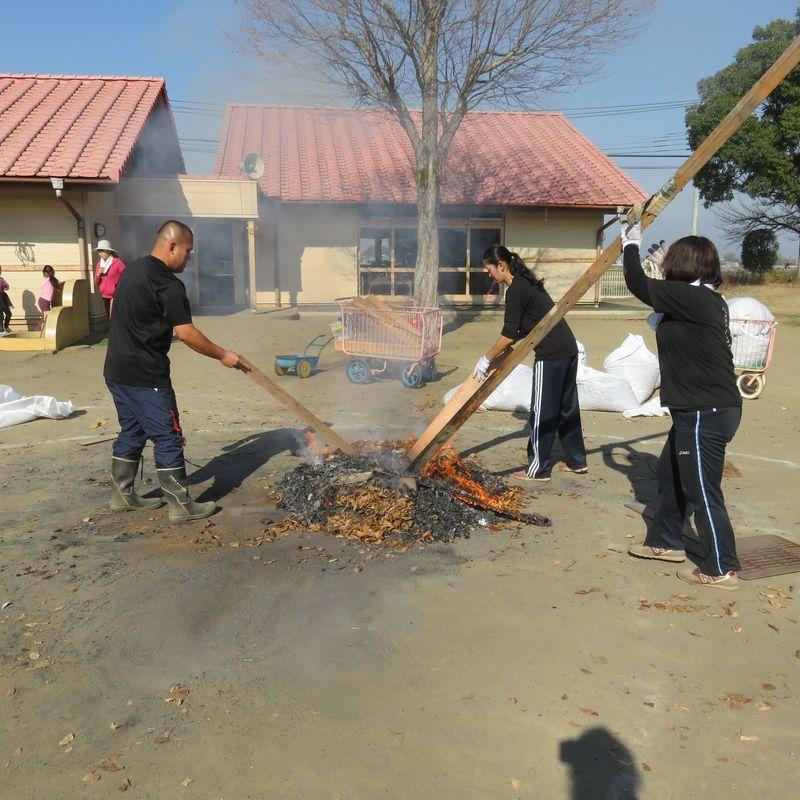 Bonfire sweet potatoes  photo