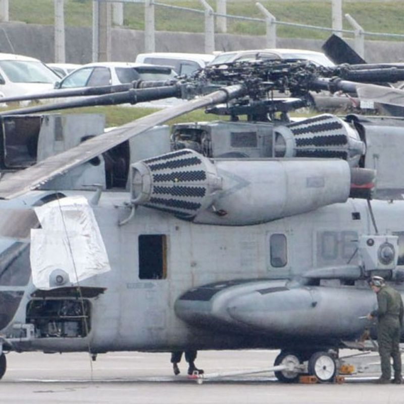 Okinawa demands suspension of U.S. military flights over schools photo