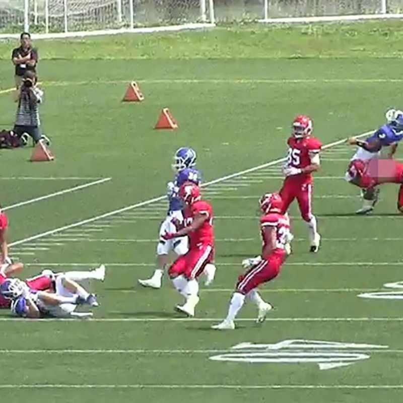 American football: Cheap shot in college game stirs national controversy photo