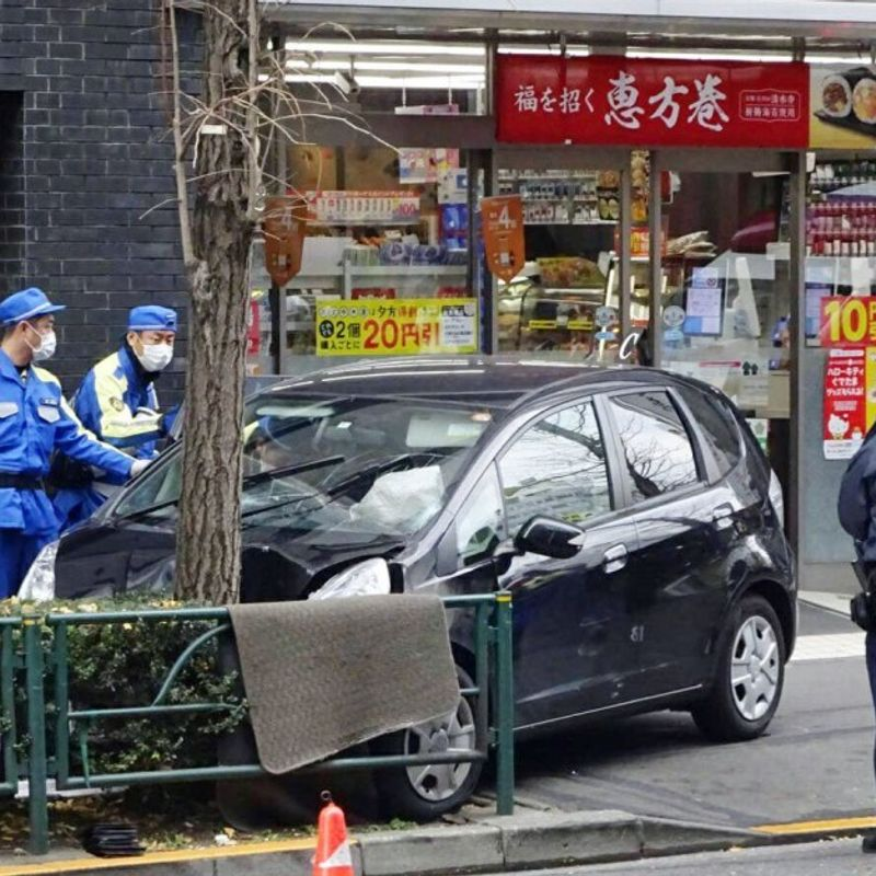 Car driven by 79-yr-old man rams into pedestrians in Tokyo, injures 5 photo