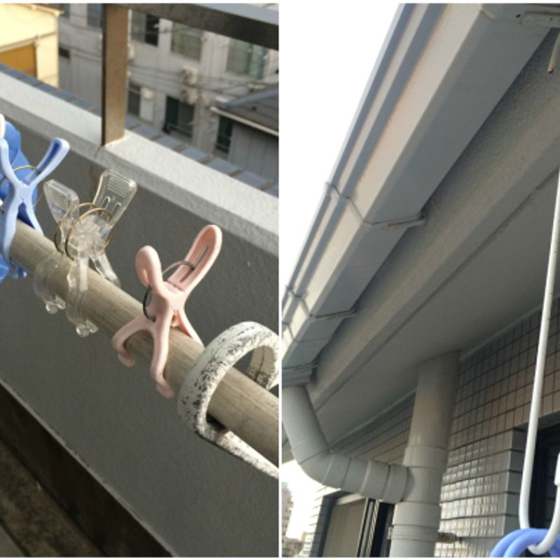 100 yen Store Hangers For Drying Laundry in Japan photo