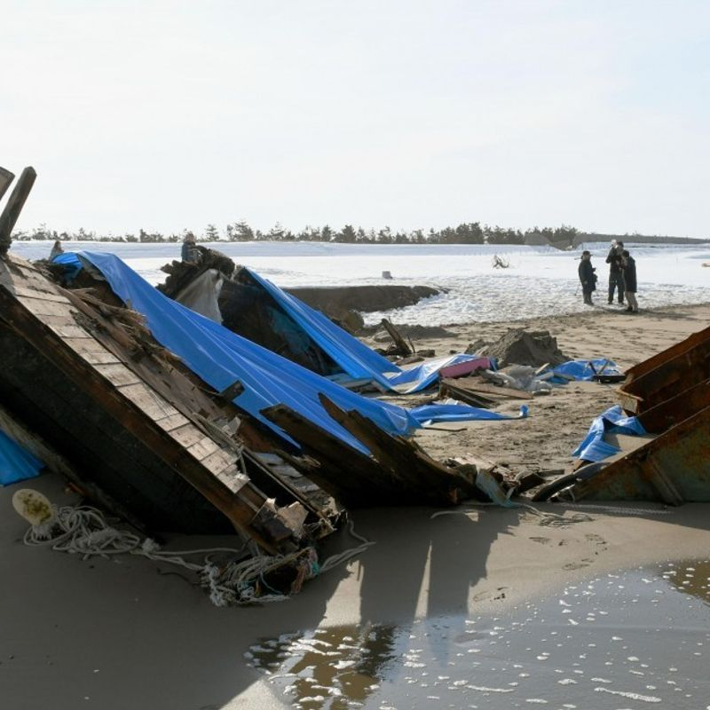 7 bodies found in capsized wooden boat likely from N. Korea photo