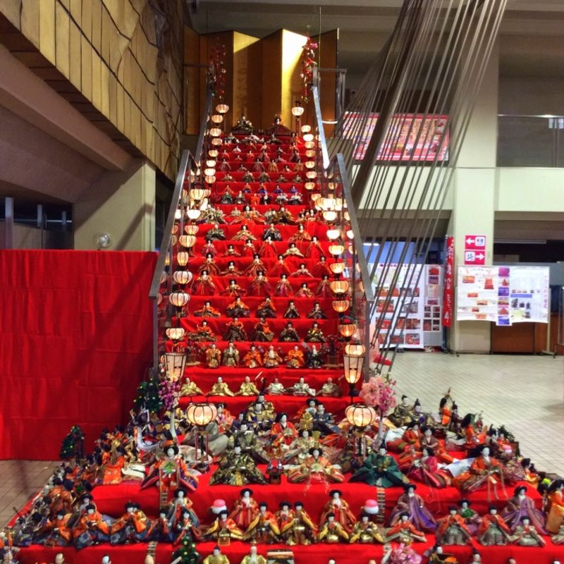 Japan's tallest Doll Festival display opens today photo