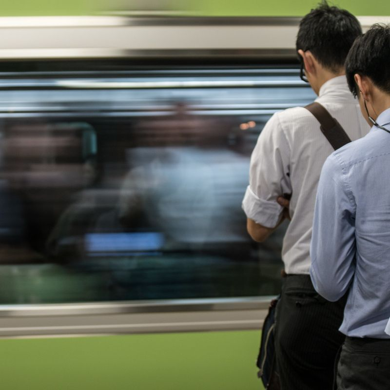 Rush hour Japan: A guide to surviving the crowded commuter trains photo
