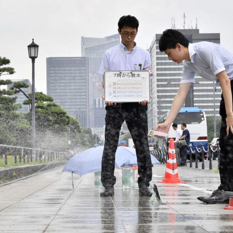 Olympics: Tokyo tests water sprinklers to keep streets cool at 2020 Games photo