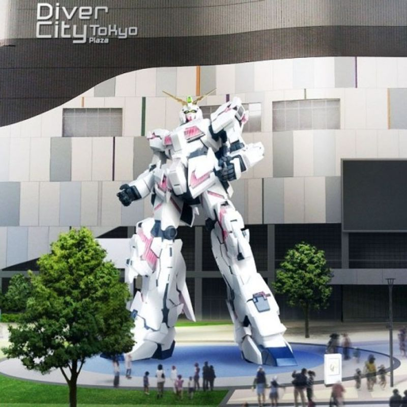 Gundam robot statue to be unveiled in Tokyo waterfront area in Sept. photo