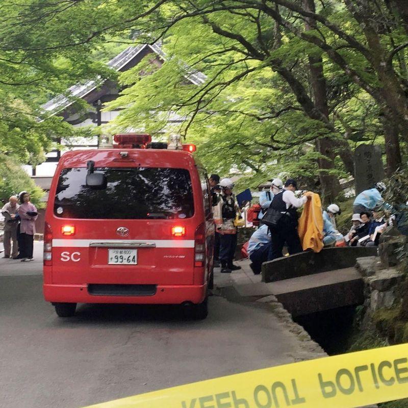 京都の寺院で臭気の原因と疑われる動物忌避剤 photo