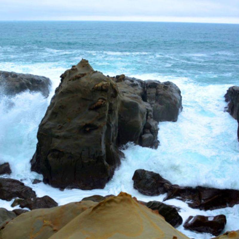 Two amazing shrines on the coast of Miyazaki  photo