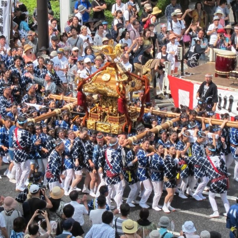 Japan For Free - The great Fukagawa Summer Festival photo