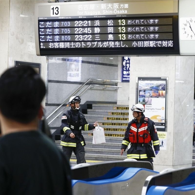 Knife rampage aboard Japanese bullet train kills 1, injures 2 photo